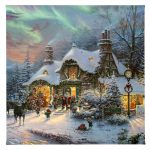 "Santa's Night Before Christmas - 14"" x 14"" - Gallery Wrap Canvas"