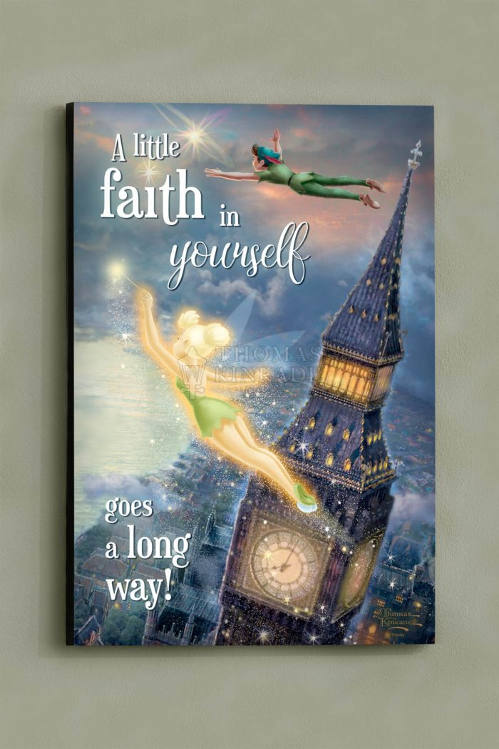 Tinker Bell and Peter Pan Fly to Never Land – Wood Sign