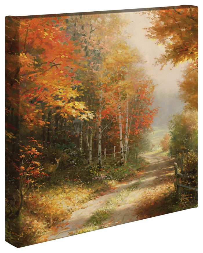 A Walk Down Autumn Lane – 14″ x 14″ – Gallery Wrapped Canvas
