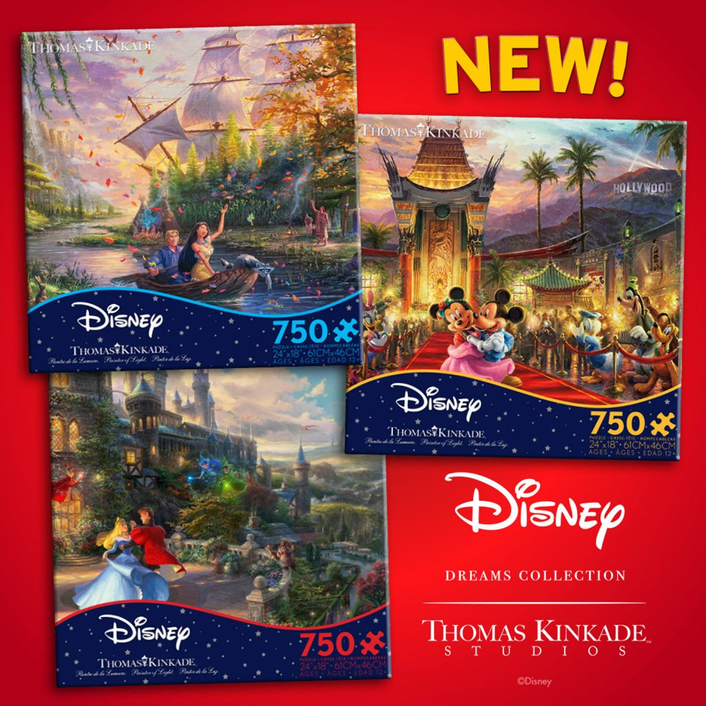 New 750 piece puzzles:  Pocahontas, M&M Hollywood, Sleeping Beauty