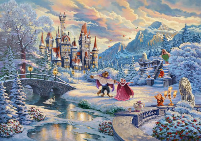Beauty and the Beast's Winter Enchantment – Limited Edition Canvas