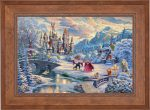 Beauty and the Beast's Winter Enchantment – Limited Edition Paper
