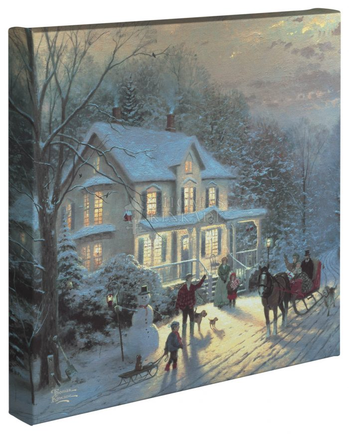 Home For The Holidays – 14″ x 14″ – Gallery Wrapped Canvas