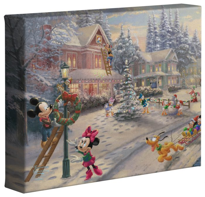 Mickey's Victorian Christmas – 8″ x 10″ Gallery Wrapped Canvas