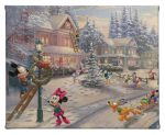 "Mickey's Victorian Christmas - 8"" x 10"" Gallery Wrap Canvas"