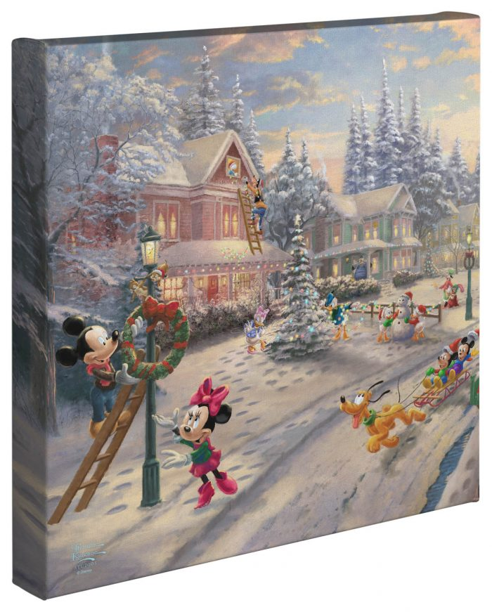 Mickey's Victorian Christmas – 14″ x 14″ Gallery Wrapped Canvas