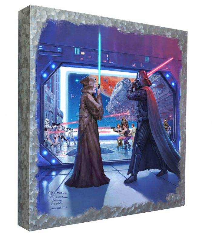 Obi-wan's Final Battle – 14″ x 14″ – Metal Box Art