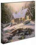 Winter Light Cottage – 14″ x 14″ – Gallery Wrapped Canvas