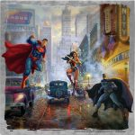 "Batman, Superman, Wonder Woman - 10"" x 10"" Metal Box Art"