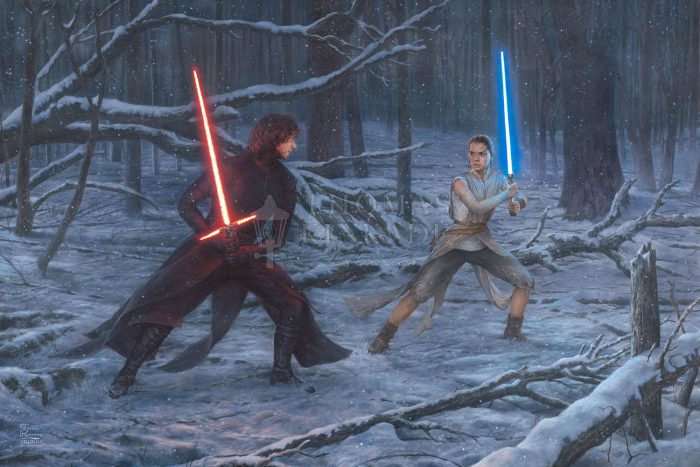 The Duel: Rey vs. Ren – Limited Edition Canvas