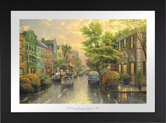 Charleston, Sunset on Rainbow Row – Limited Edition Paper