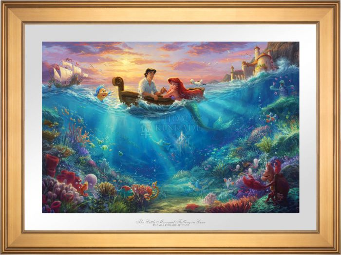 The Little Mermaid Falling in Love – Limited Edition Paper