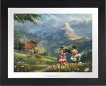 Mickey and Minnie in Alps – Limited Edition Paper