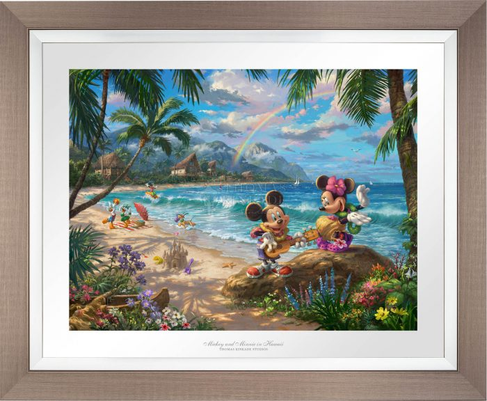 Mickey and Minnie in Hawaii – Limited Edition Paper