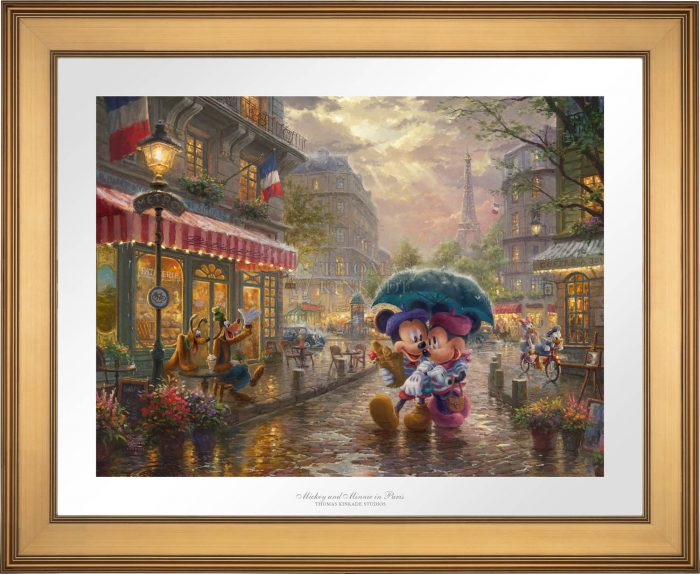 Mickey and Minnie in Paris – Limited Edition Paper