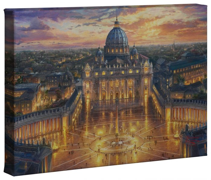 Vatican Sunset – 10″ x 14″ Gallery Wrapped Canvas
