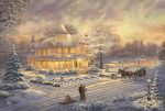Victorian Christmas Sunset – Limited Edition Canvas