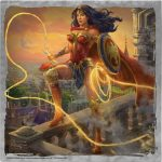"Wonder Woman - Lasso of Truth - 10"" x 10"" Metal Box Art"