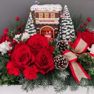The Winners For Thomas Kinkade's Festive Fire Station Bouquet Giveaway
