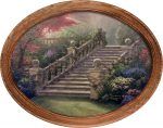 Stairway to Paradise – 12″ x 16″ Framed Canvas Oval