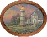 Victorian Light – 12″ x 16″ Framed Canvas Oval
