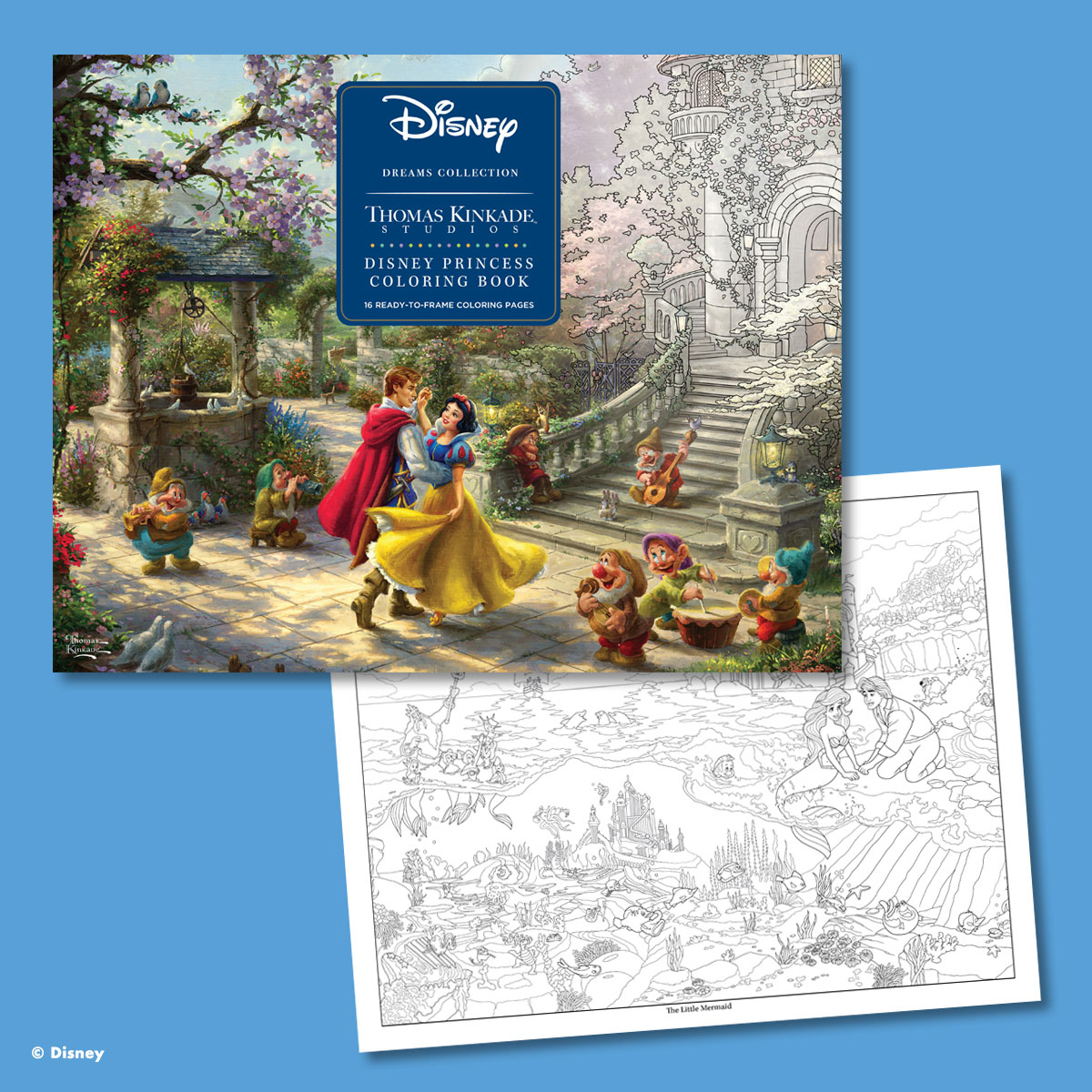 Andrews McMeel – Disney Princess Coloring Book Thomas Kinkade
