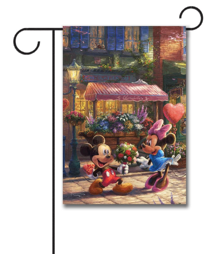 Mickey and Minnie Sweetheart Café Garden Flag From Flagology