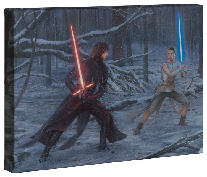 The Duel: Rey vs. Ren – 10″ x 14″ Gallery Wrapped Canvas