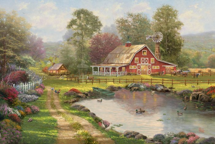 Red Barn Retreat – Limited Edition Canvas