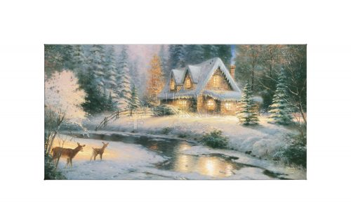 """Deer Creek Cottage - 16"""" x 31"""" Gallery Wrapped Canvas"""