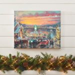 The Lights of Christmastown – 16″ x 20″ Lighted Wrapped Canvas