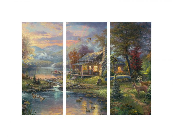 Nature's Paradise – 36″ x 48″ (Set of 3) Triptych Giclee Canvas