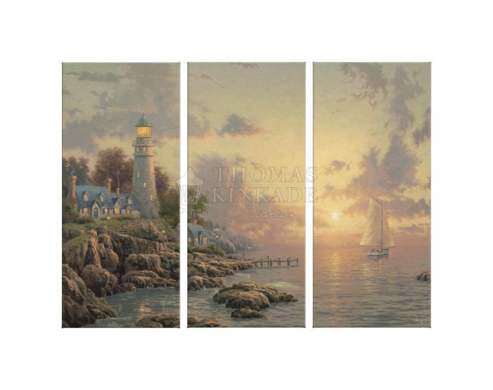 Sea of Tranquility – 36″ x 48″ (Set of 3) Triptych Giclee Canvas