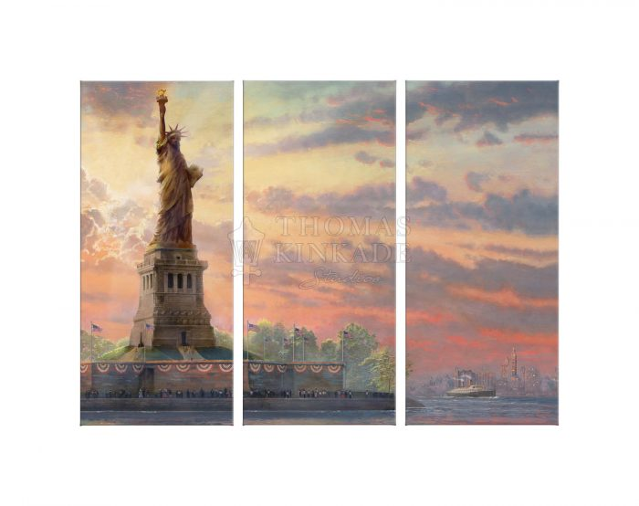 Dedicated to Liberty – 36″ x 48″ (Set of 3) Triptych Giclee Canvas