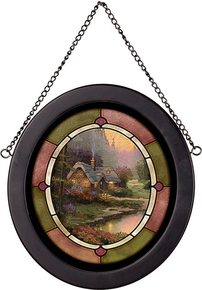 Meadowood Cottage – 8″ x 7″ Stained Glass Art