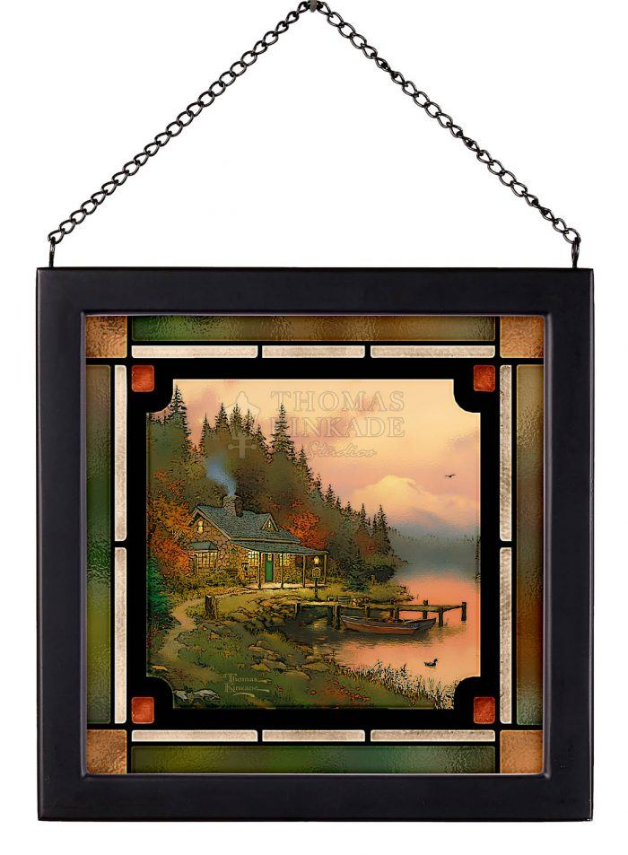 End of a Perfect Day – 8″ x 8″ Stained Glass Art
