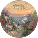 "The Village Lighthouse - 12.5"" x 12.5"" Personalized Serving Tray"