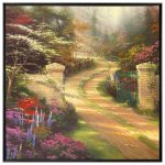 Spring Gate – 36″ x 36″ Canvas Wall Mural (Onyx Black Frame)