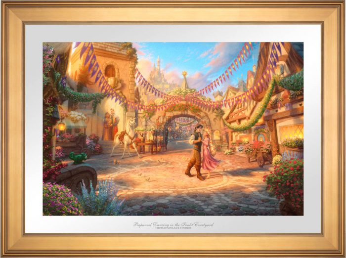 Rapunzel Dancing in the Sunlit Courtyard – Limited Edition Paper