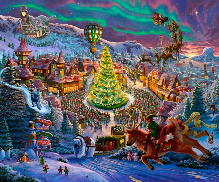 Santa's North Pole – Limited Edition Canvas