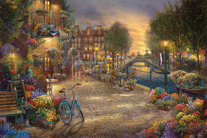 Amsterdam Cafe – Limited Edition Canvas