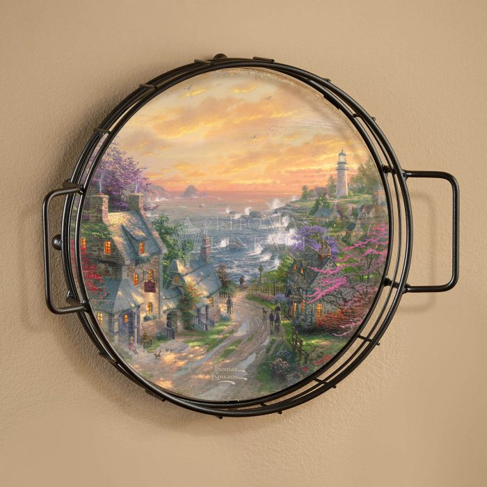 The Village Lighthouse – 12.5″ Wall Tray