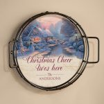 A Quiet Evening; Seasons – Personalized 12.5″ Wall Tray