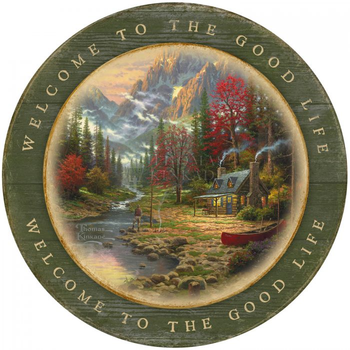 Welcome to the Good Life – 12.5″ Wood Sign