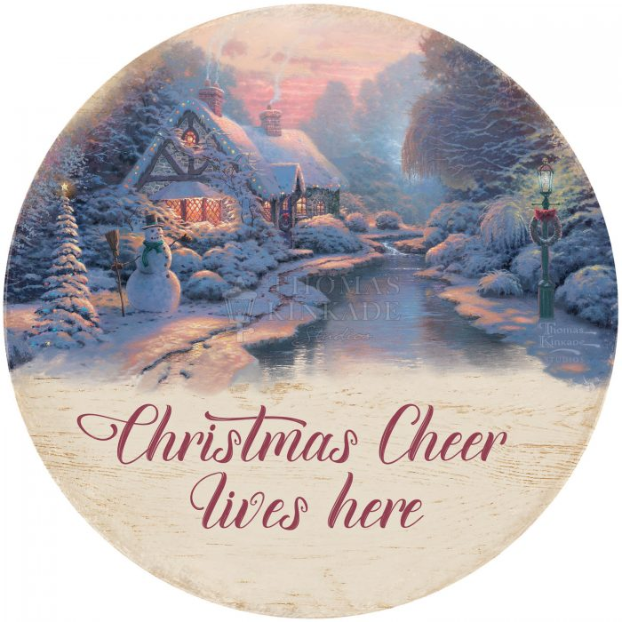 Christmas Cheer Lives Here – 12.5″ Wood Sign