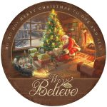 Believe – 12.5″ Wood Sign