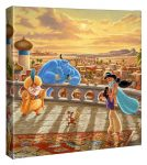 Jasmine Dancing in the Desert Sunset – 14″ X 14″ Gallery Wrapped Canvas