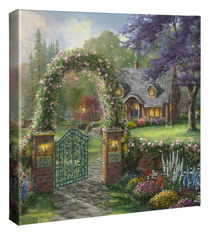Hummingbird Cottage 14″ X 14″ Gallery Wrapped Canvas