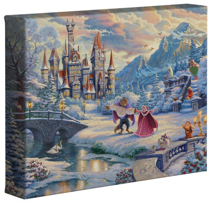 Beauty and the Beast's Winter Enchantment – 8″ x 10″ Gallery Wrapped Canvas