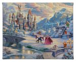 "Beauty and the Beast's Winter Enchantment - 8"" x 10"" Gallery Wrapped Canvas"